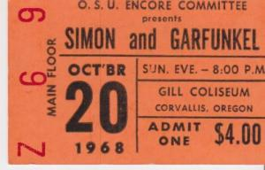 19681020 Simon & Garfunkel Corvallis Gill Museum